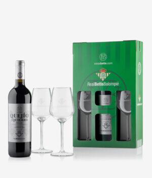 Vinos betis Rioja crianza 1 botella y dos copas rotuladas