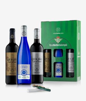 Pack Vinos Betis Total: Estuche regalo con todos los vinos oficiales del Real Betis Balompié