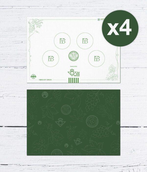 x4 Mantel Reversible Individual